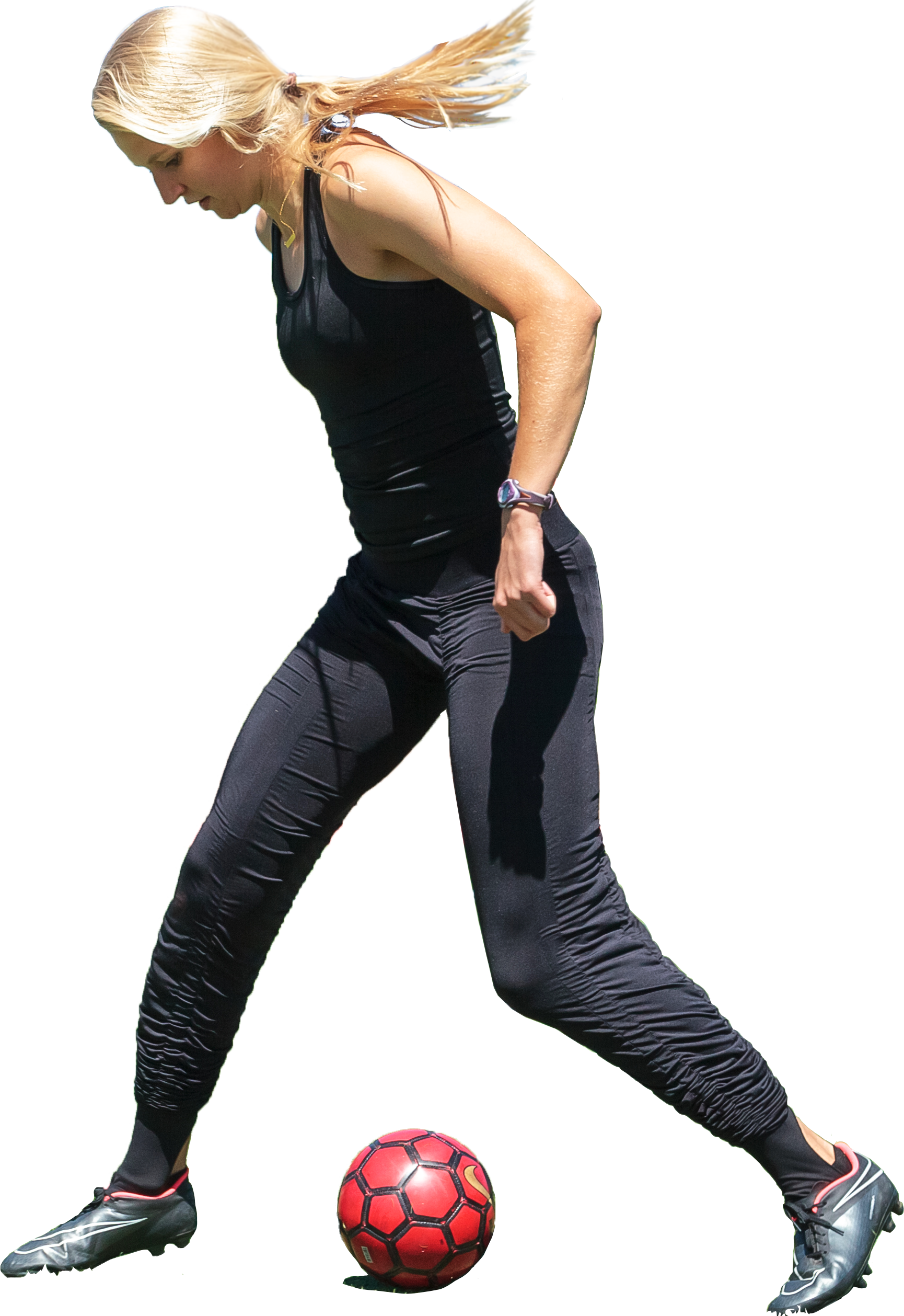 Playing soccer with AGOGIE wearable resistance training tights allow you to practice under resistance helping you build muscle where you need it.