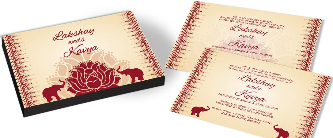 Royal Indian Wedding Invitation for Hindu