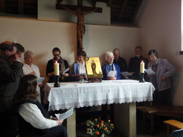 A group of Companions renewing their commitment at the Julian Shrine