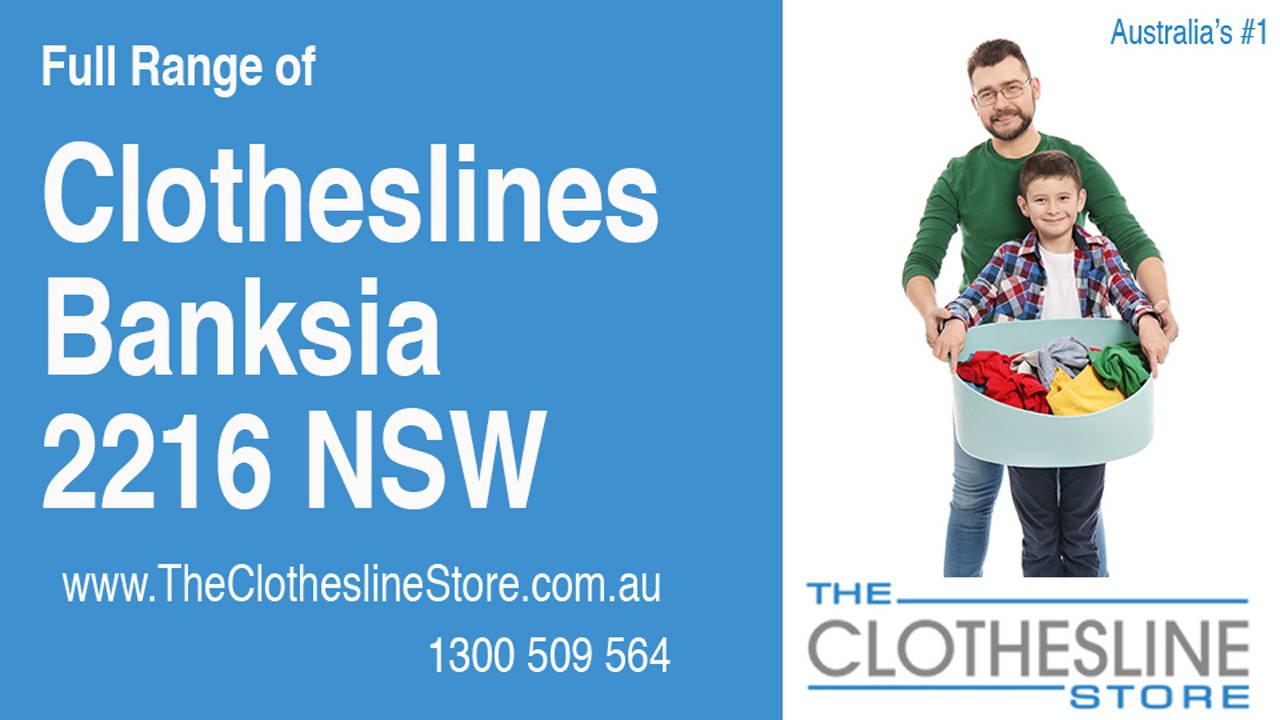 Clotheslines Banksia 2216 NSW