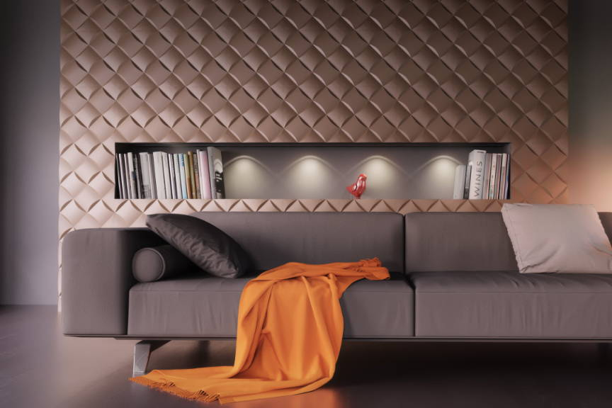 3D ceramic gypsum panels Wicker