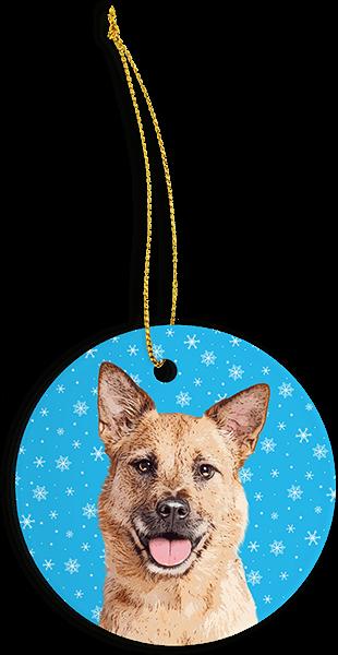 snowflake tree ornament with custom pet art