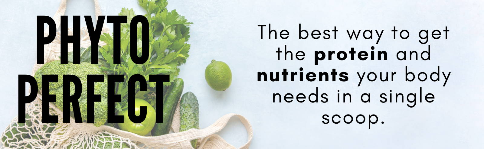 Phyto Perfect, the best way to get the protein & nutrients you need.