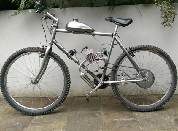 2-Stroke Motorized Bicycle with Engine Kit