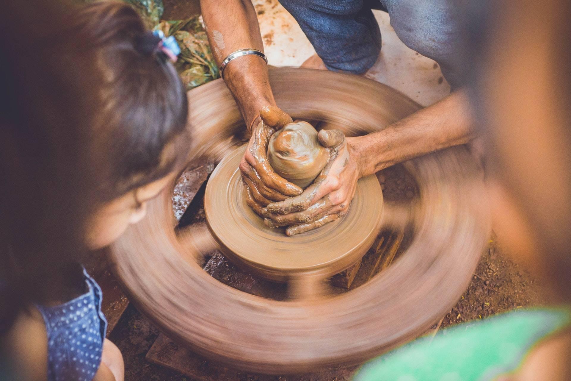 420 friends enjoying clay