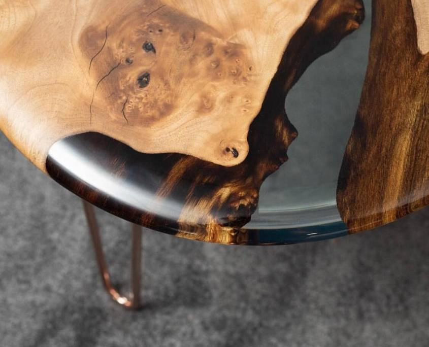 The Osso 80 Side Table Exhibited at ICFF Florida Detail