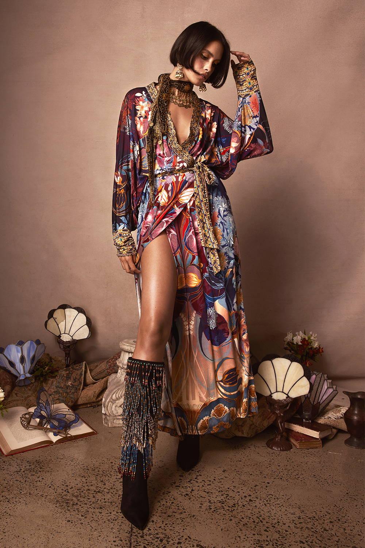 CAMILLA Nouveau Nights Jersey Wrap Dress