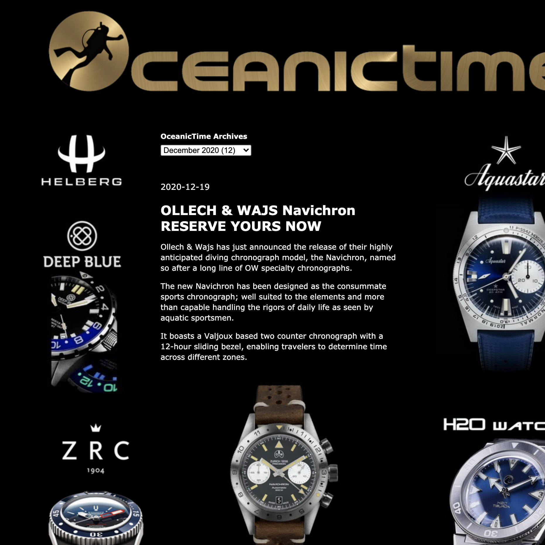 OceanicTime OLLECH & WAJS Navichron RESERVE YOURS NOW