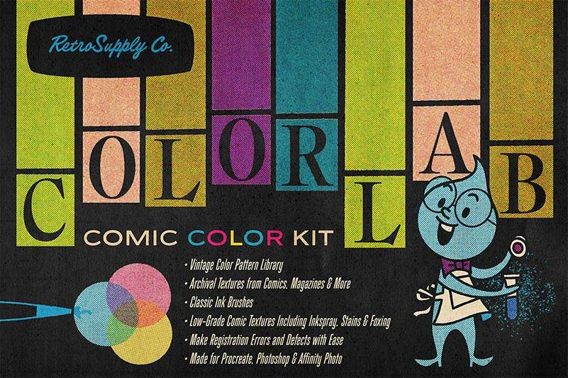 ColorLab | Vintage Halftone Comic Print Effects