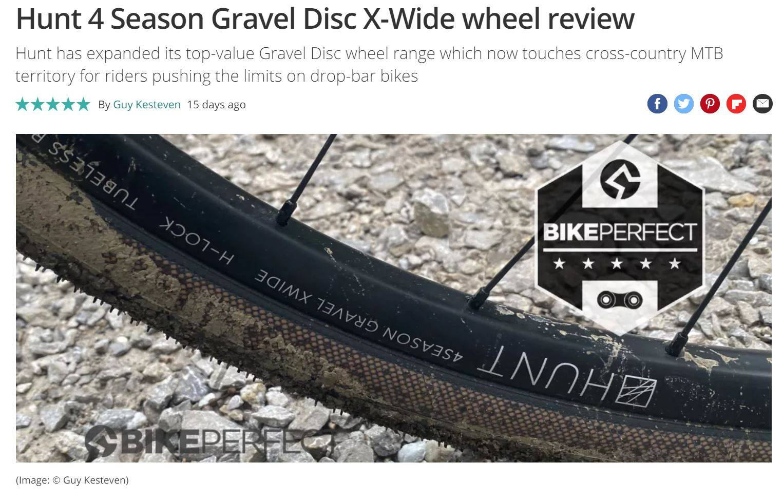BikePerfect review of Hunt 4 Season Gravel Disc X-Wide Screengrab