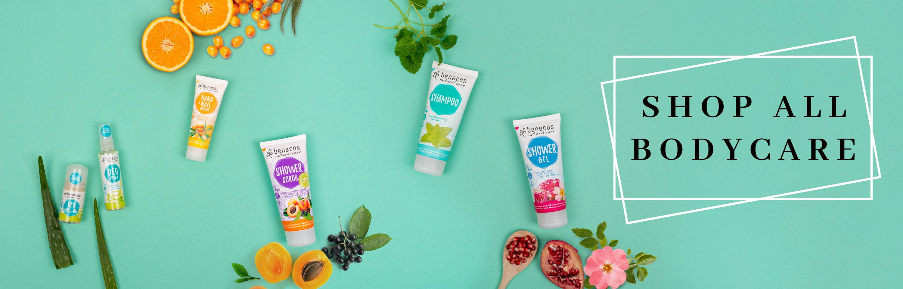 benecos range of natural and organic certified bodycare suitable for the whole family!