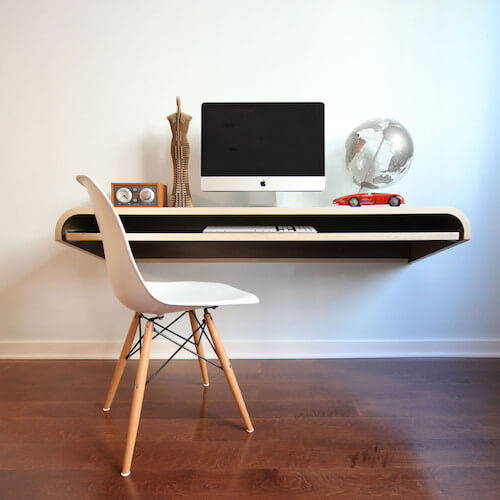 Orange 22 Minimal Float Wall Desk
