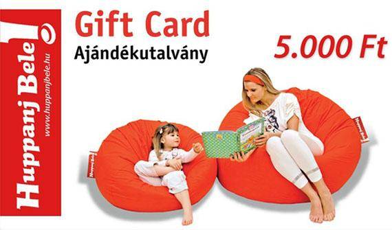Ajándékutalvány - HuppanjBele.hu
