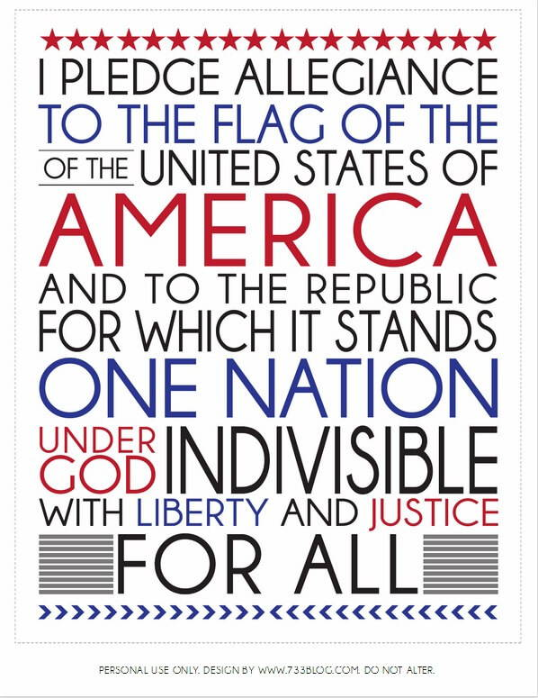 4th of july quote on the pledge of allegiance