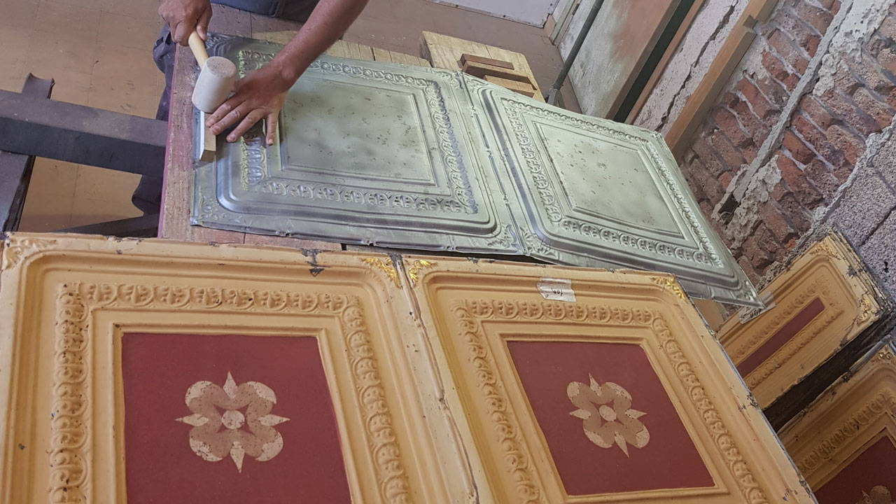 Process of Restoring and Matching of Original Tins with Replicated Panels