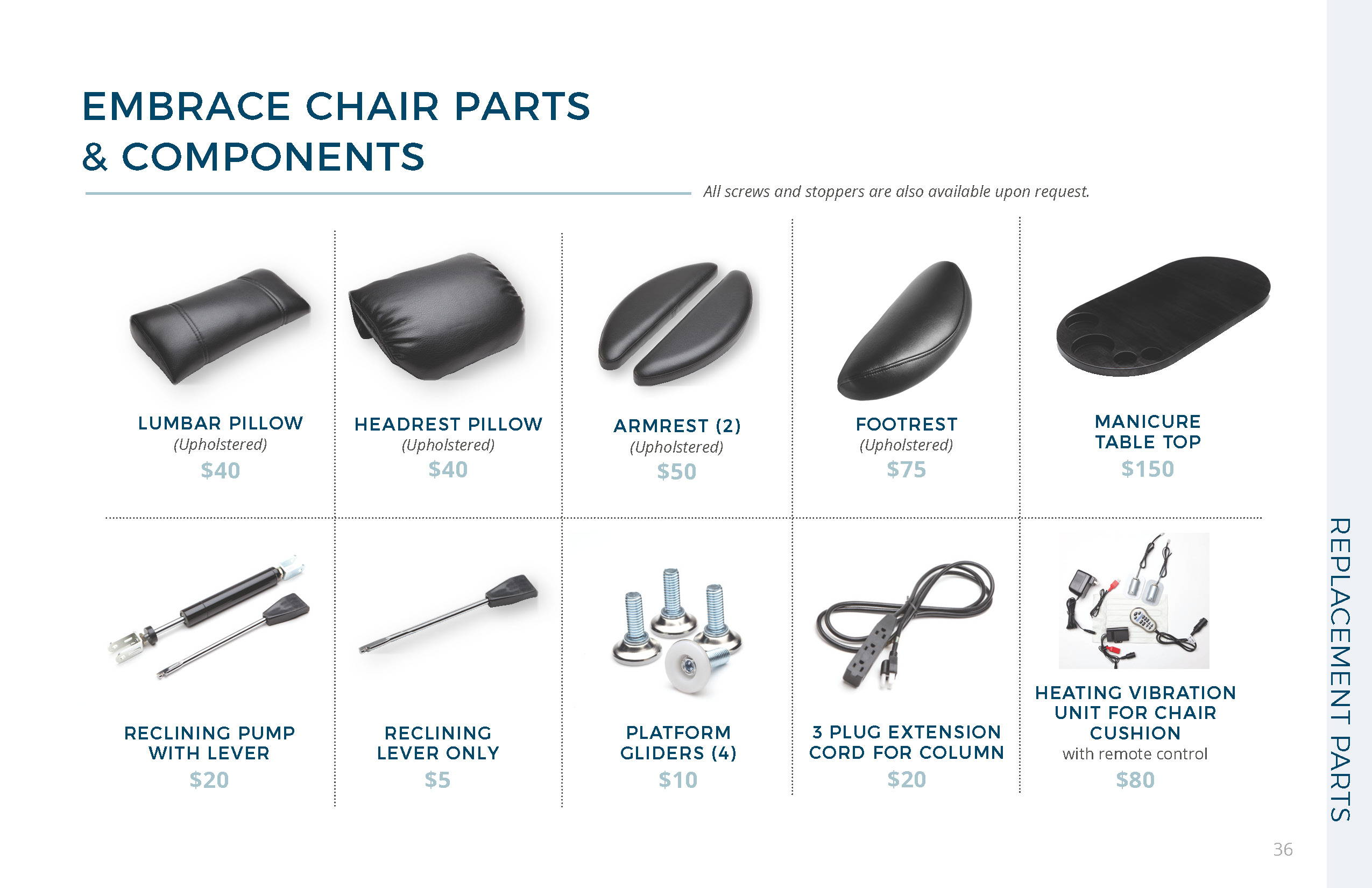 Belava Embrace Chair Parts and Components