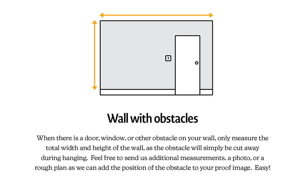 how to measure wall with obstacles