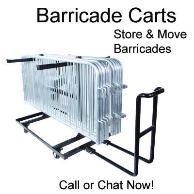 Barricade Carts For Steel Barricades