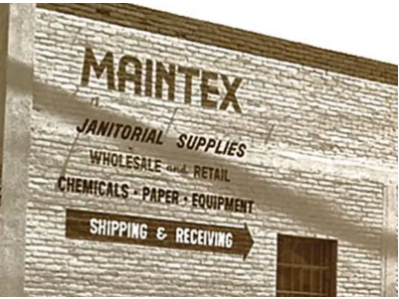 Old building with Maintex painted signage