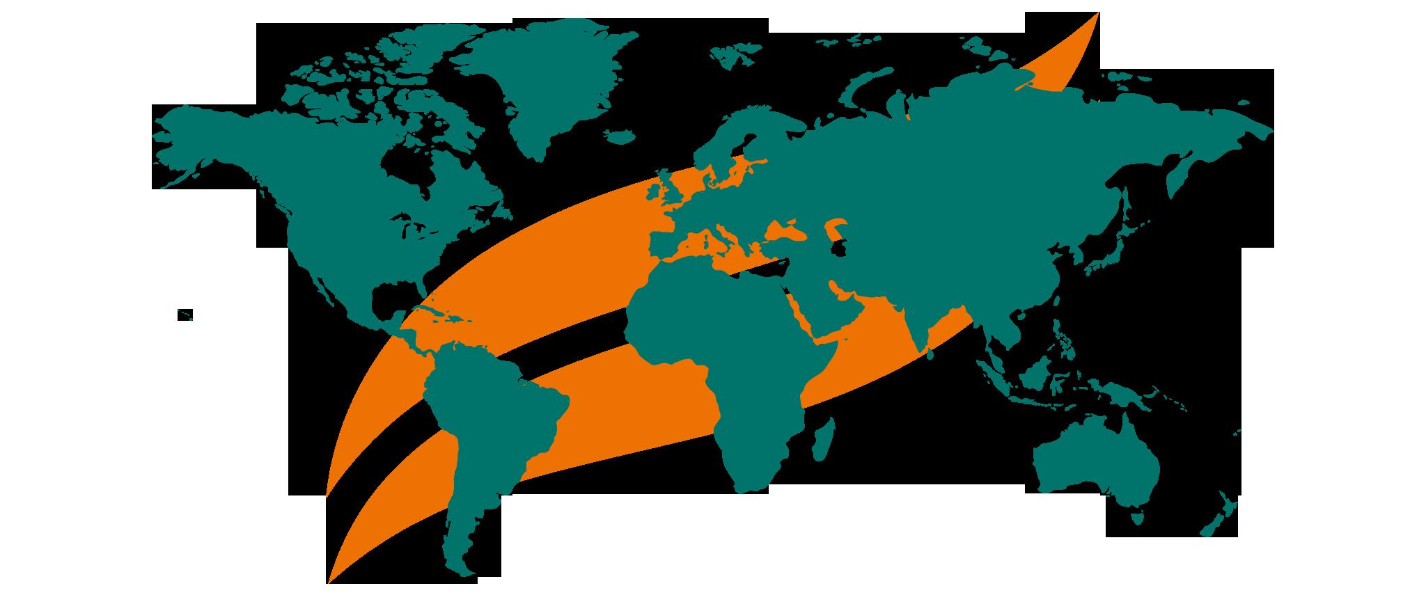 Himalaya On the Go - Himalaya Logo with World Map