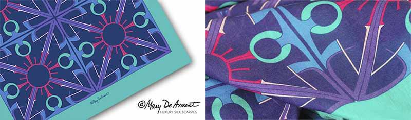 Designer custom printed scarves - Modal- Oblong