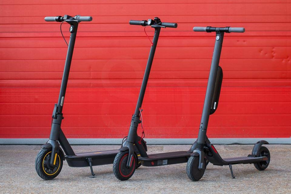 Ninebot Max G30 Electric scooter compared to M365 Pro Segway ninebot ES4 front