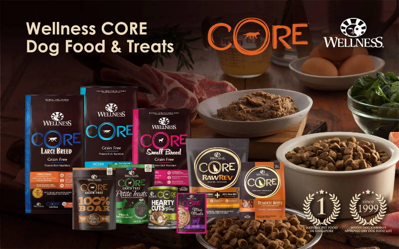 wellness core pet food and treats singapore branding banner for dogs pawpy kisses pet shop