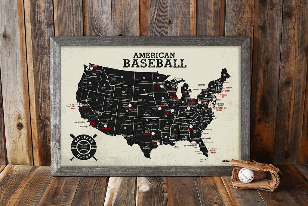 Sports Maps: Baseball Stadium Map – GeoJango Maps