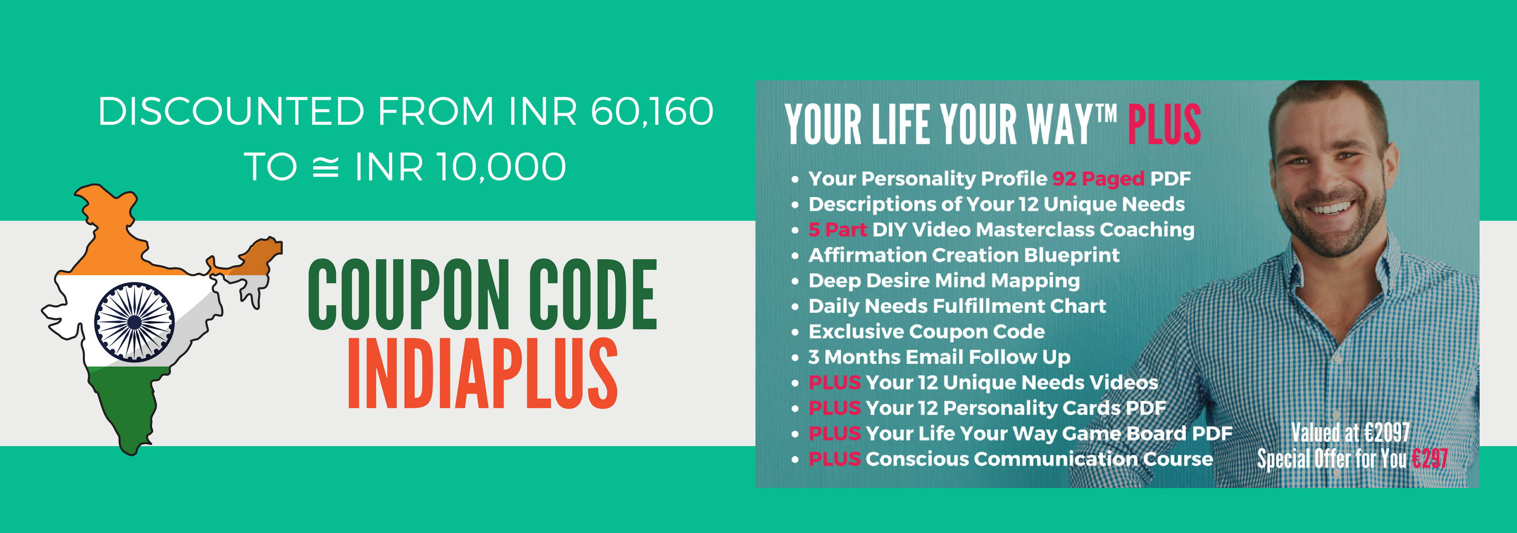 Special offers to become the best version of yourself with use coupon code indiaplus for india residents developing countries now yours for about inr 10000 fandeluxe Image collections