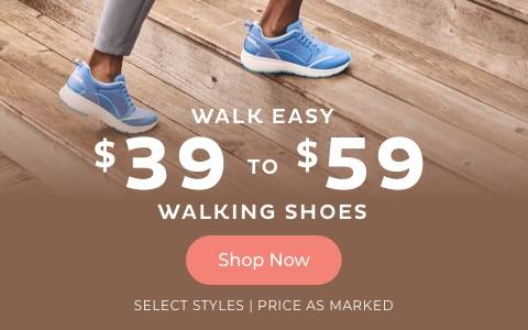 $39 to $59 Walking Shoes