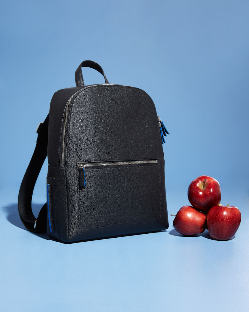 vegan apple leather backpack