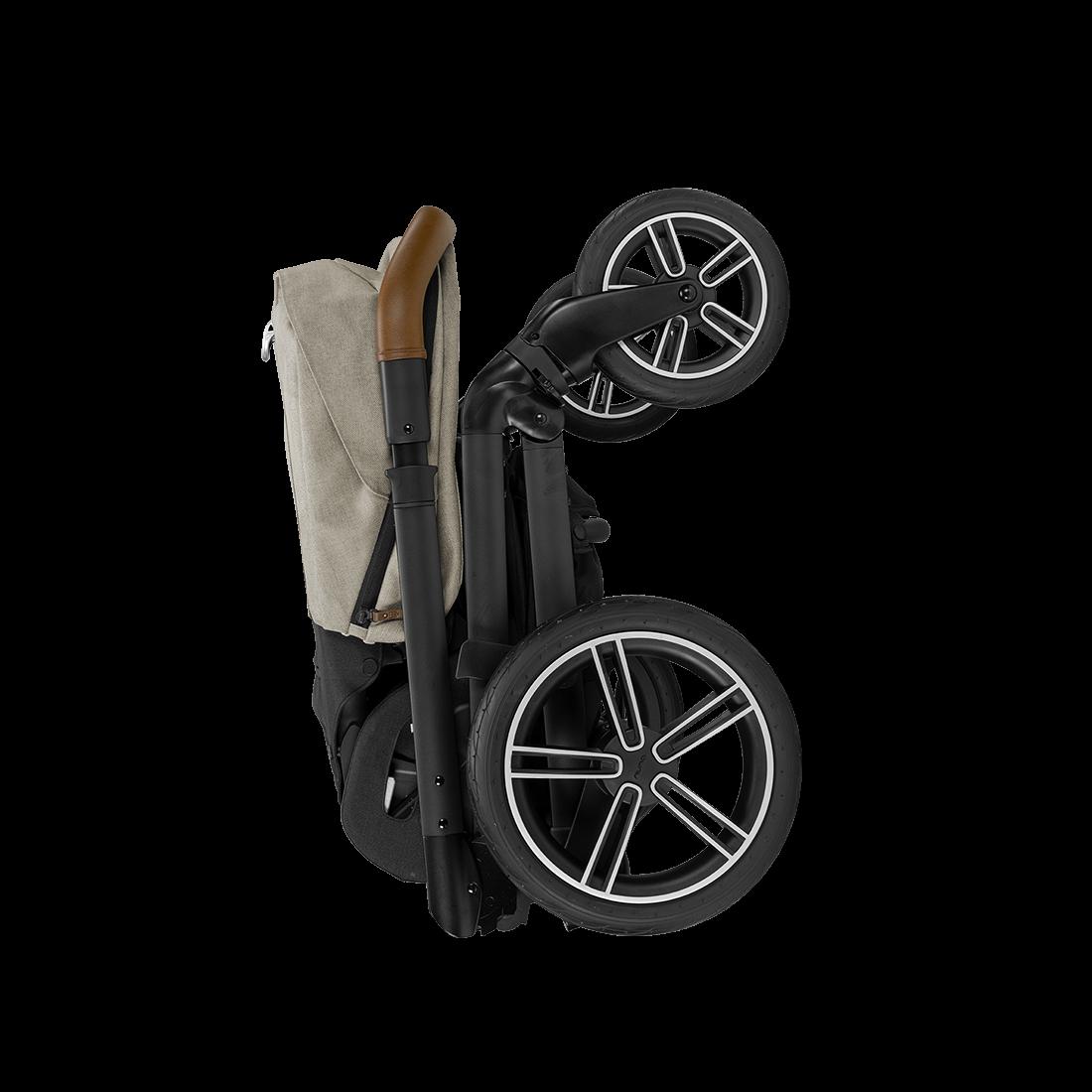 the Nuna 2020 / 2021 MIXX stroller, folded up, shop Kidsland