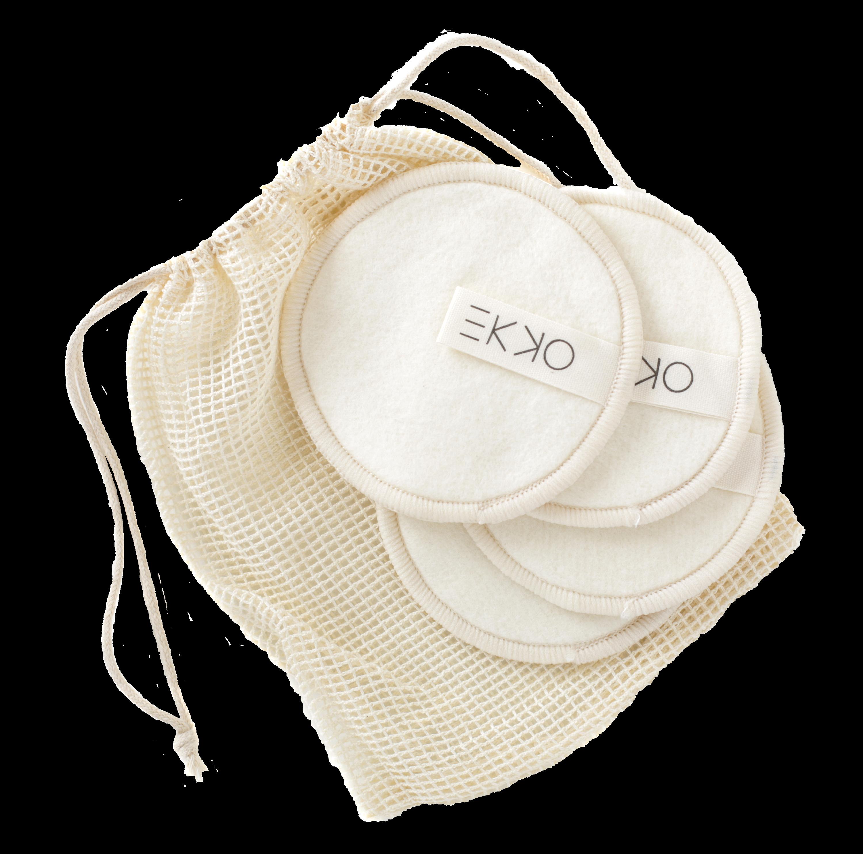 reusable hemp cotton pads make up