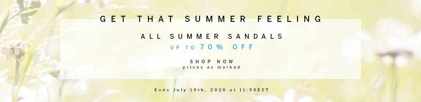 All Summer Sandals up to 70% Off