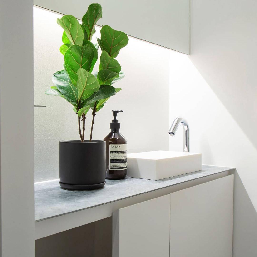 「素材」×「デザイン」 シンプルな鉢 シリーズ - Black 2〜4号