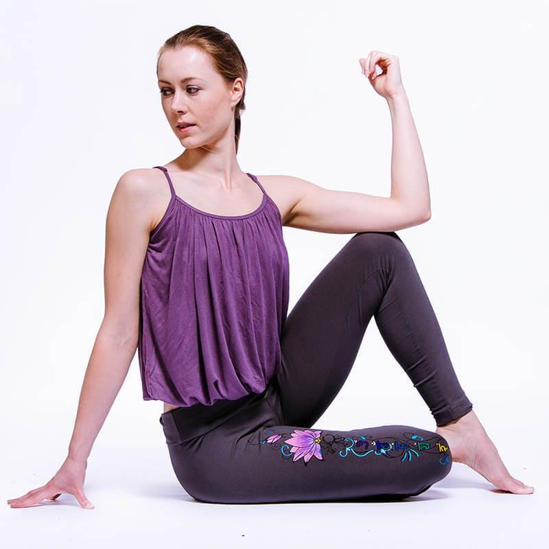 Magasin yoga strasbourg - legging yoga - tatouage fleur de lotus - 7 chakras -  Achamana