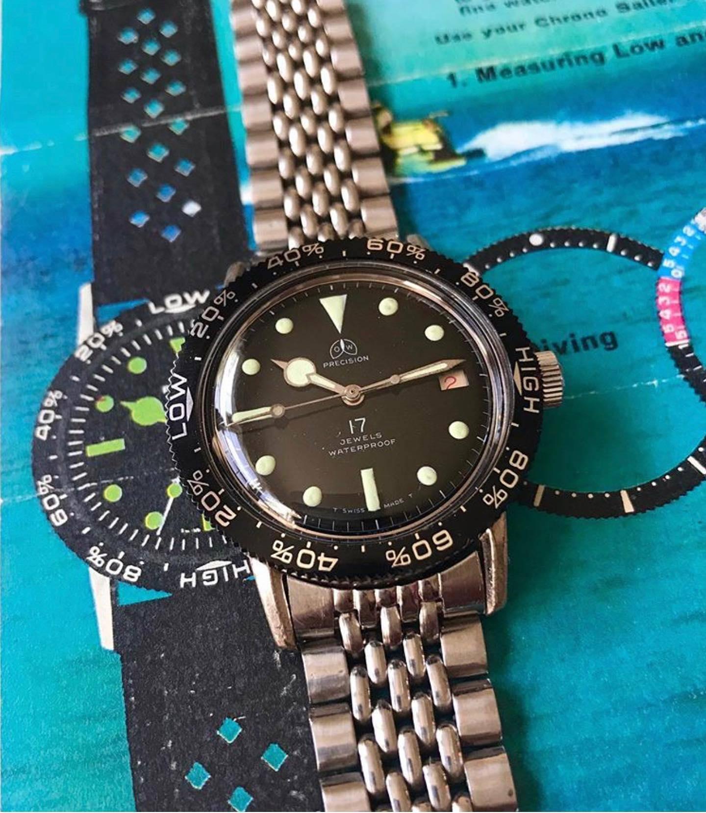 @bristnj_jeff with rare a tidal bezel OW precision diver