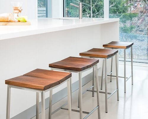 Gus Stanley Wood Counter Stools