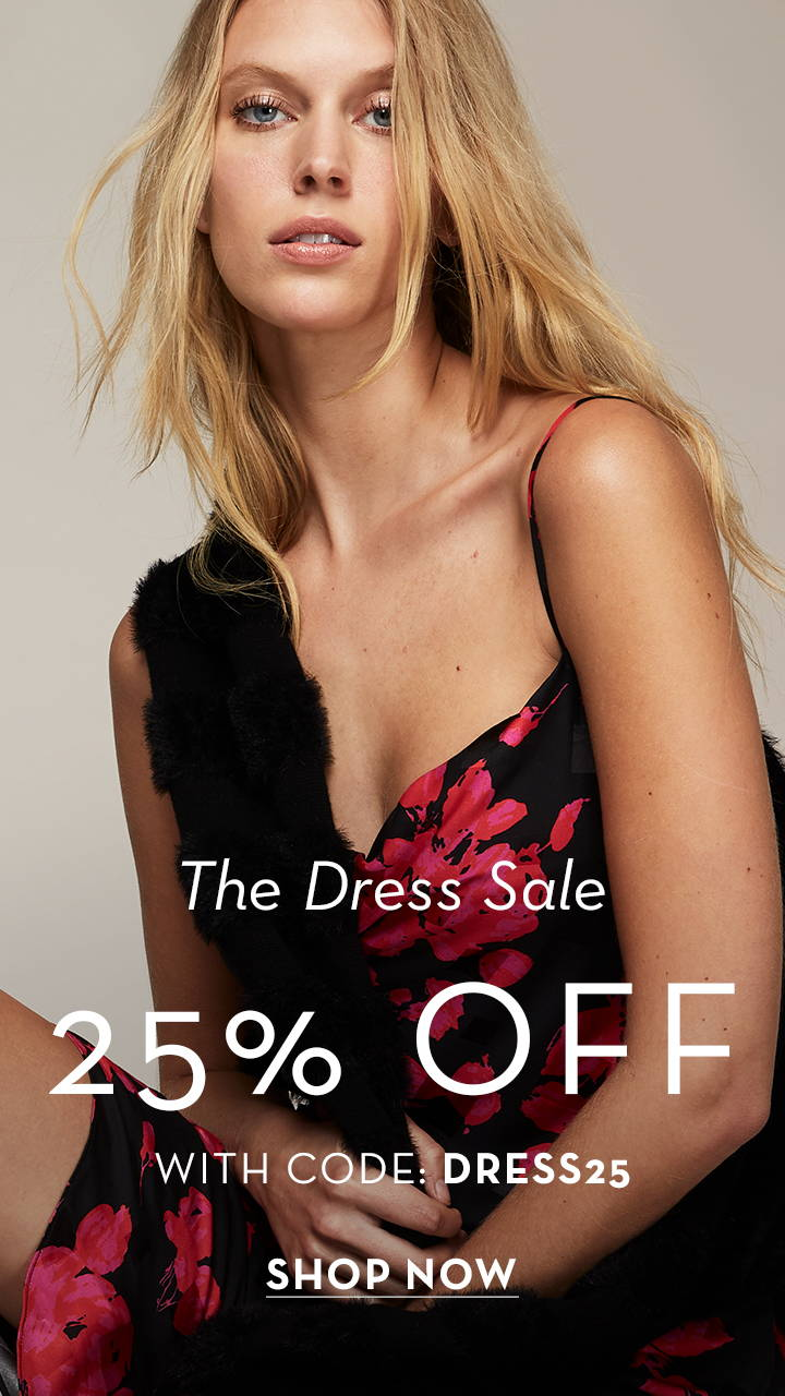 The dress sale 25% off with code: dress25