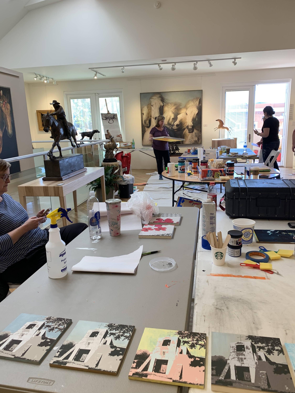 Maura Allen. Printmaking workshop. Sorrel Sky Gallery. Artist Workshops. Artist Workshop. Sorrel Sky Workshop. Santa Fe Art Gallery. Santa Fe Workshop. Durango Workshop.