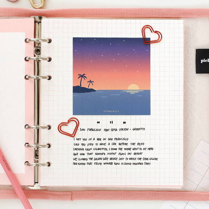 Note gird 1,2 - 2NUL-Cherry-pick-6-ring-dateless-weekly-diary-planner-