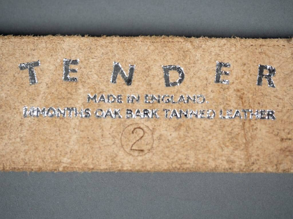 tender co leather belt wire buckle size