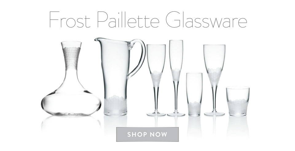 Frosted Paillette Glassware