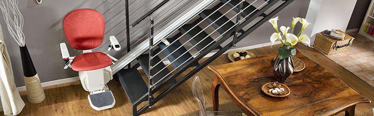 Ameriglide Platinum Horizon stair lift chair straight banner   VIVA Mobility USA - Orlando, FL