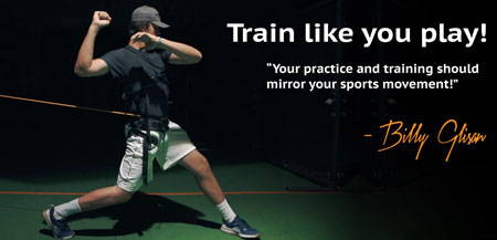 baseball player training in pc360 system