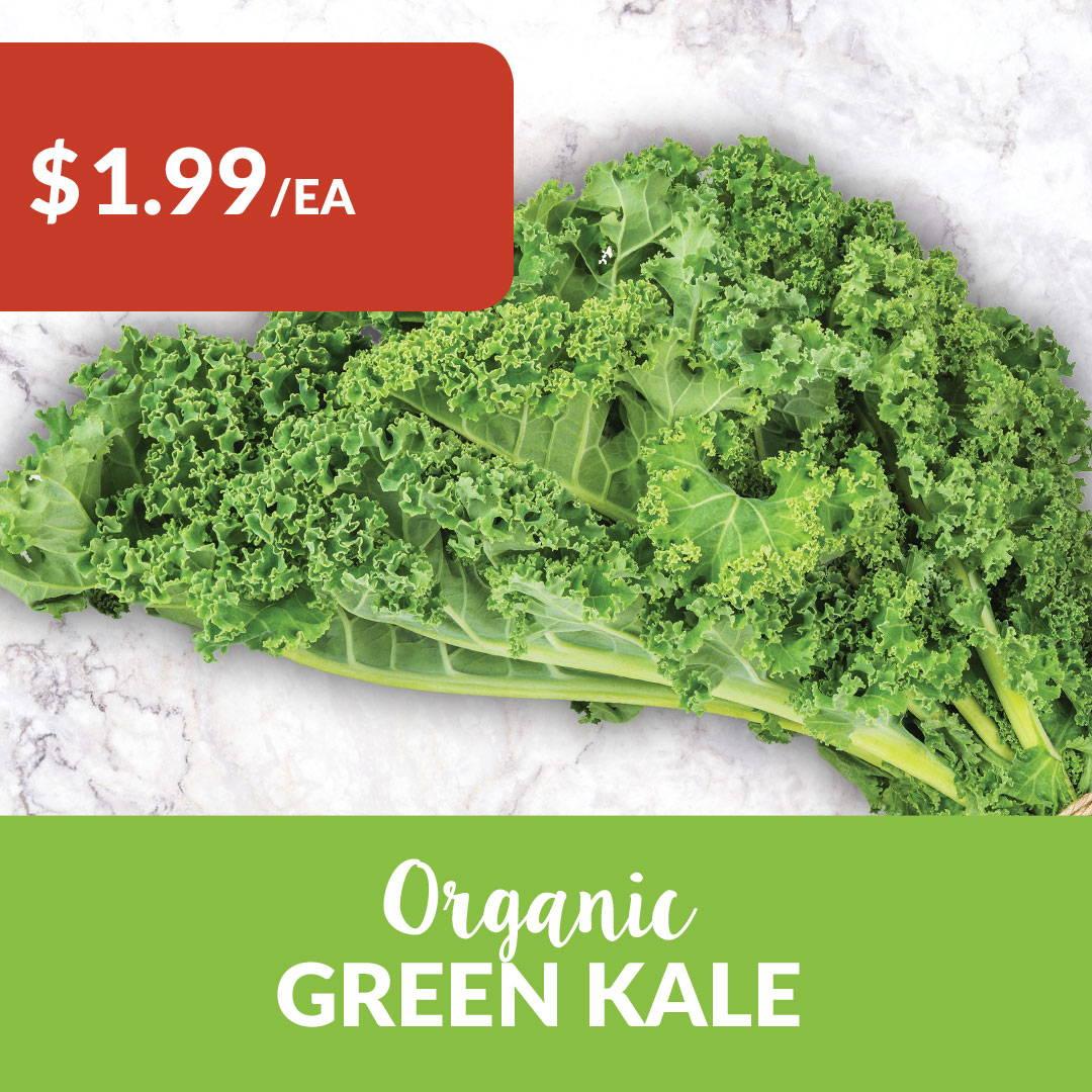 organic local kale