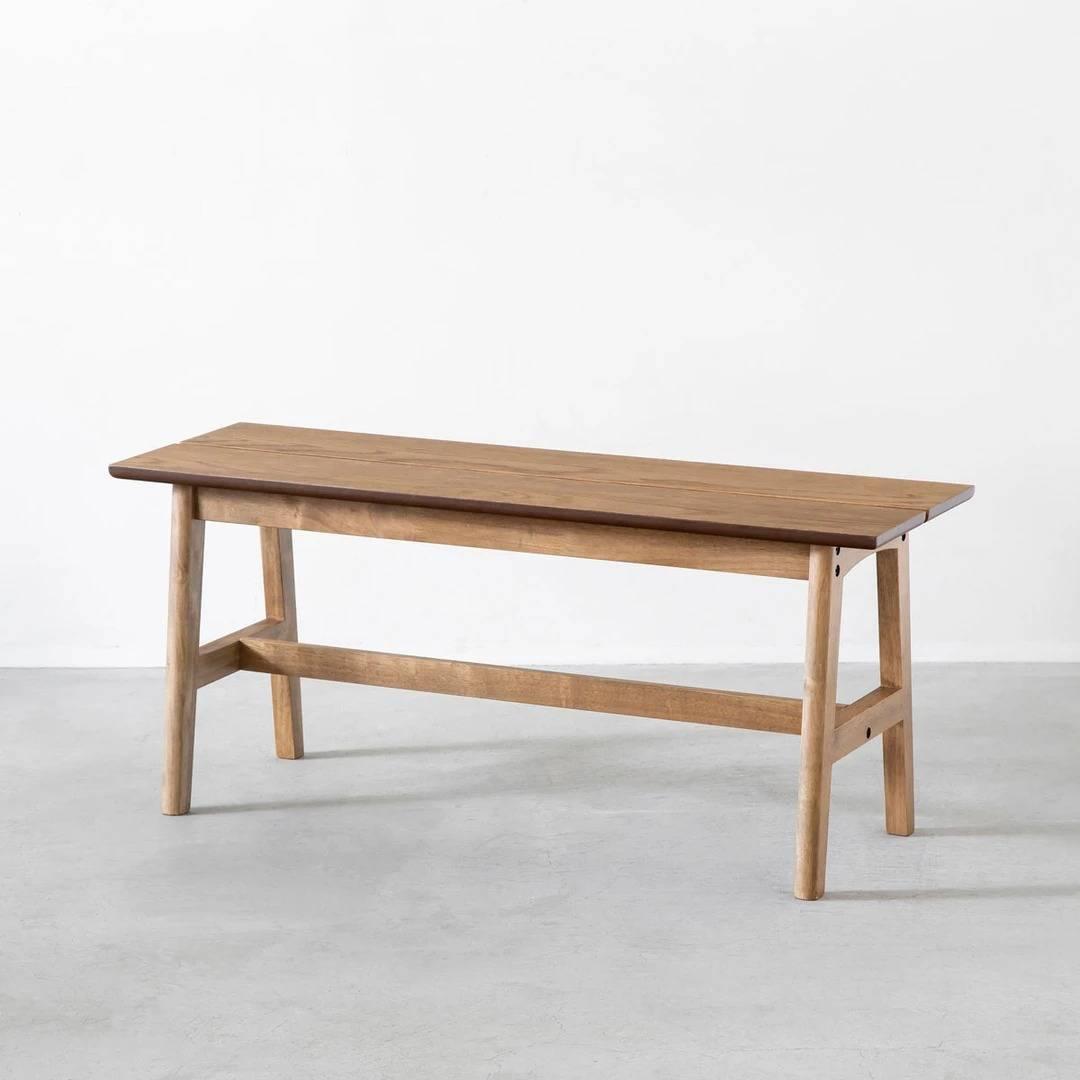 Retro - Natural 木製ベンチ オーク材