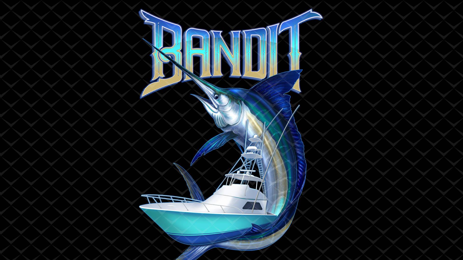 briny custom boat and fish graphic