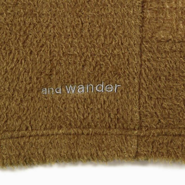 andwander(アンドワンダー)/アルファダイレクトプルオーバー/ブラック/UNISEX