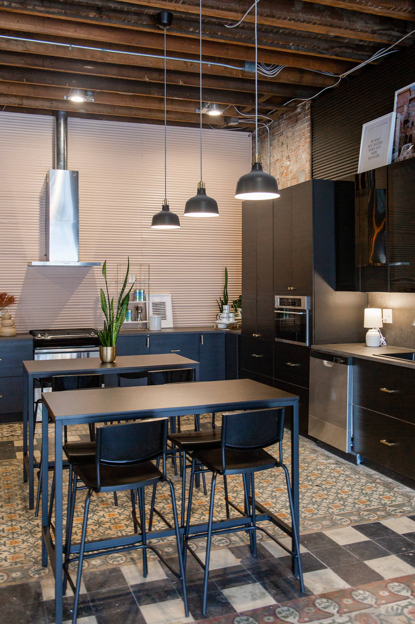 communal, fully-equipped kitchen space with stove, microwave and dishwasher